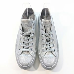 2 FOR 80 Converse Glitter Silver Low Tops